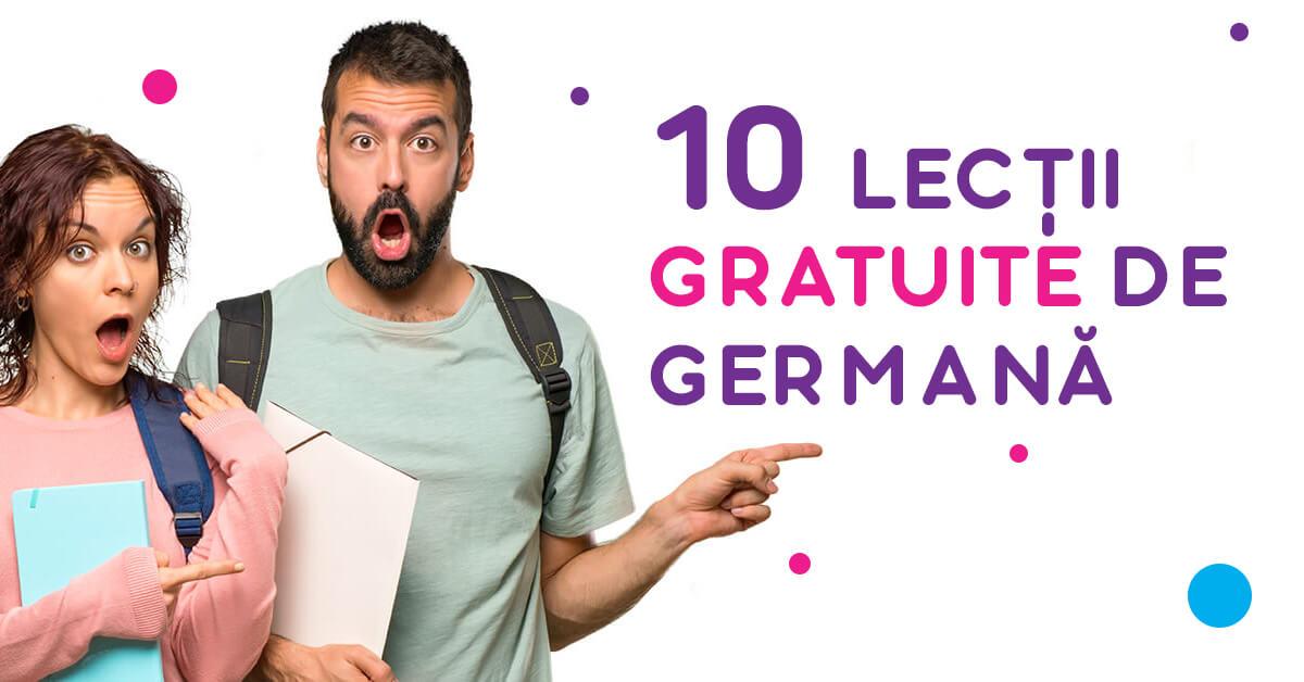 10 lectii de limba germana gratuite