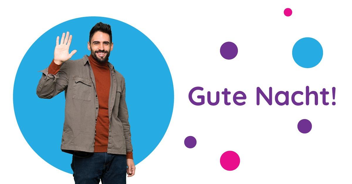 Saluturi în germană Gute Nacht!