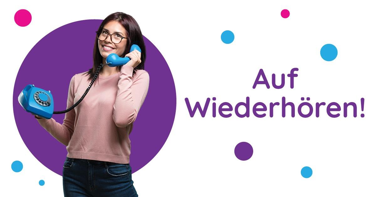 Saluturi în germană Auf Wiederhören!