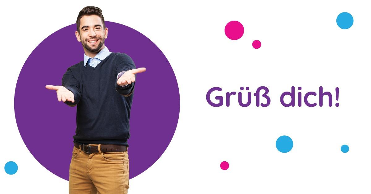 Saluturi în germană Grüß dich!